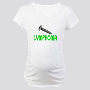SCREW Lymphoma 2.1 (Lime) Maternity T-Shirt